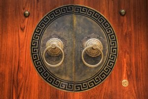 Ancient Chinese door handles