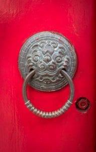 Old chinese door handle